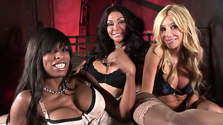 Kimber vaniity and natassia Amazing shemale Kimber getting banged by Vaniity & Natassia.